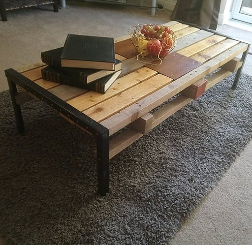 Upcycled industrial chic pallet coffee table