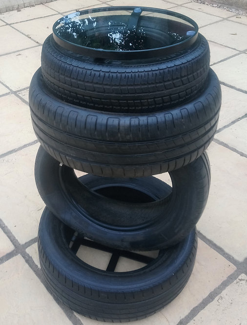 Reclaimed Tyres Drinks Table