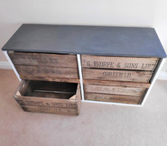 Reclaimed Fruit Crate Cabinet
