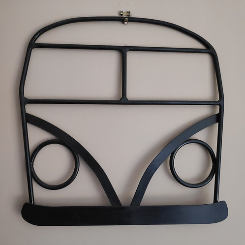 Black steel Camper Van wall art