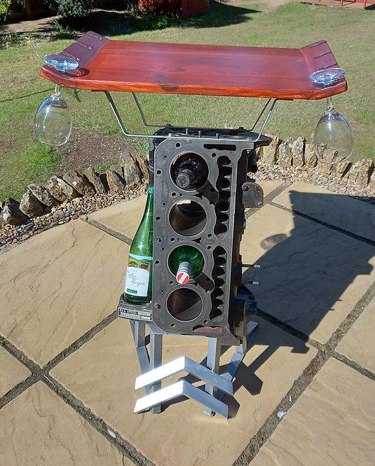 Engine block wine rack 1968 Citroen DS
