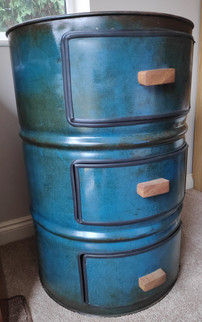 Oil Barrel Chest of Drawers