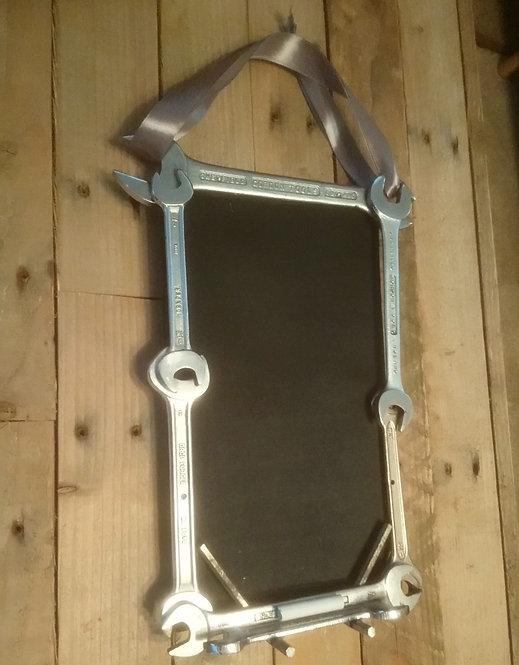 Industrial chic spanner framed blackboard/chalkboard