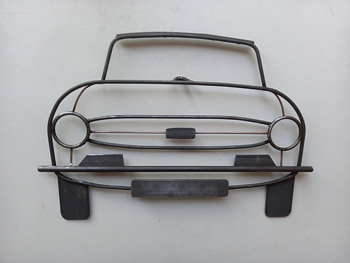 Triumph TR6 Front-View Steel Wall Art