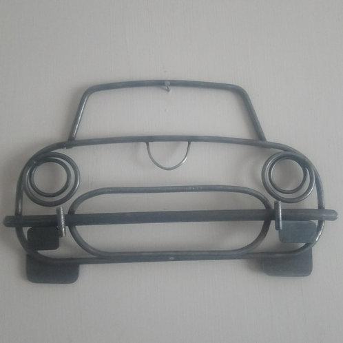 Handcrafted Jaguar E-Type steel wall art
