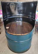 Oil Barrel Seat - Reclaimed Oil Barrel Furniture