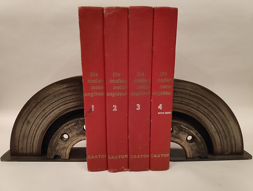 Vented brake disc book ends