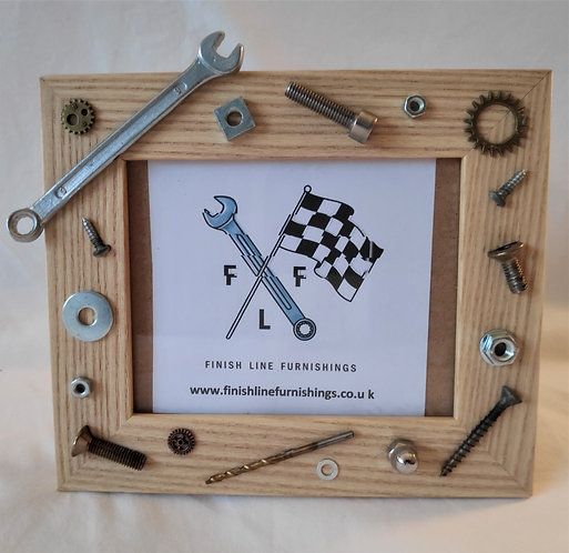 Mechanical odds and ends picture frame