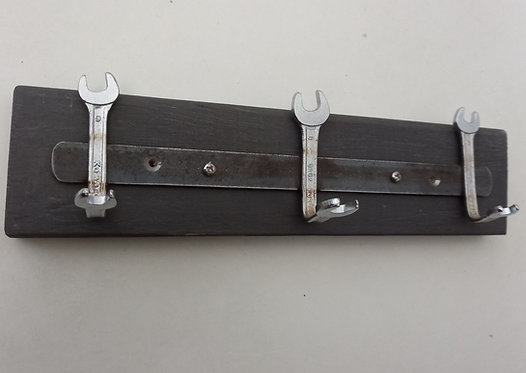 Spanner coat rack in grey
