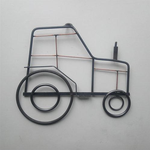 Handmade tractor steel wall art