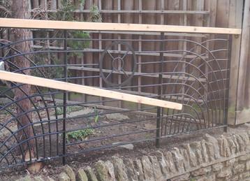 Bespoke steel stair rail