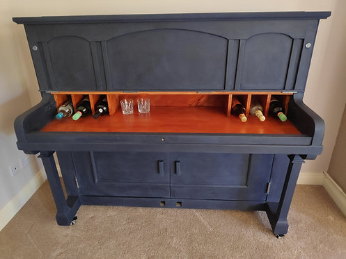 Reclaimed piano drinks cabinet