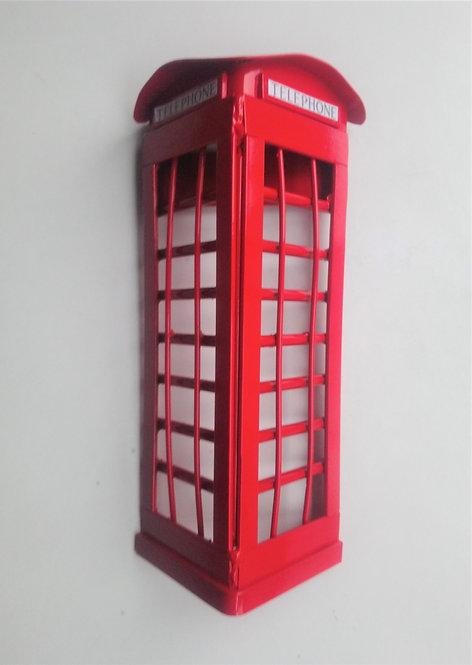 UK phone box handmade steel wall art