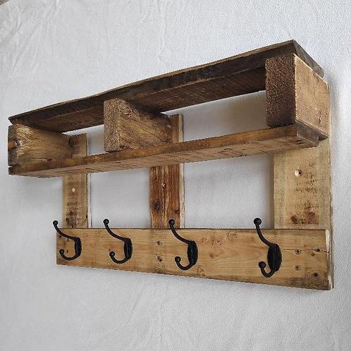 Handcrafted pallet wood coat rack