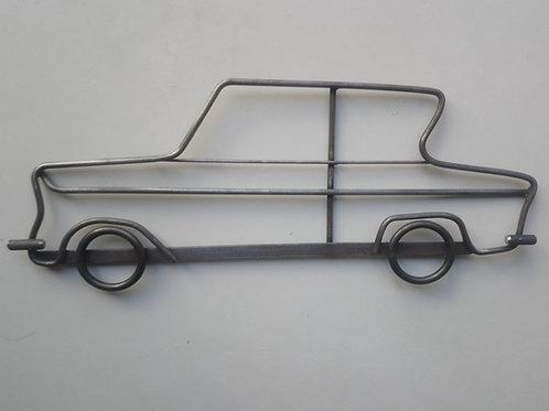 Handmade Ford Anglia steel wall art