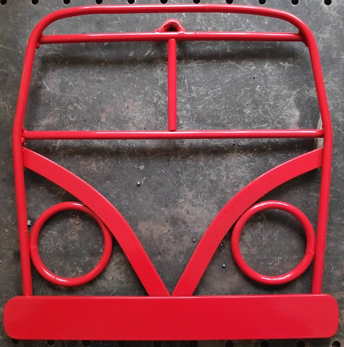 Handmade Camper van steel wall art in red