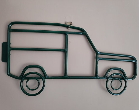 Handcrafted Land Rover steel wall art