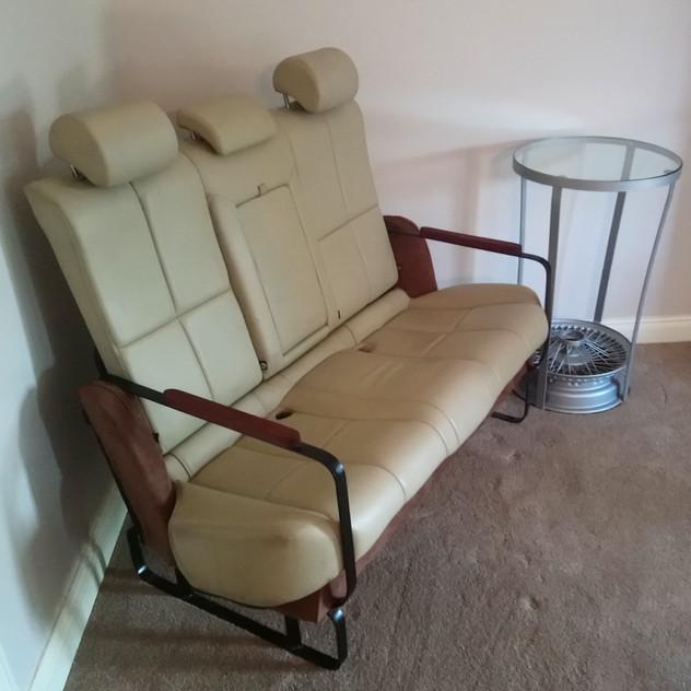 Jaguar Rear Bench Seat Sofa - Reclaimed Car Parts Furniture