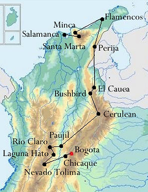 BIRDING IN COLOMBIA With MANAKIN NATURE TOURS ENDEMIC ROUTE - Where is bogota