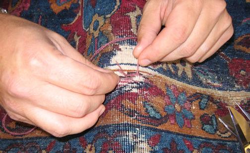 Restauro riparazione tappeto