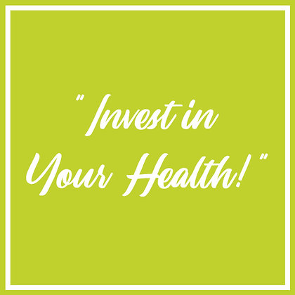"""""""Invest in Yourself"""" - 6 Week Overall Wellness Course"""