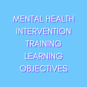 TRAINING LEARNING OBJECTIVES
