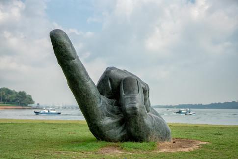 Sculpture in Changi Beach Park