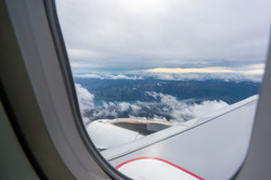 View from an airliner in the air