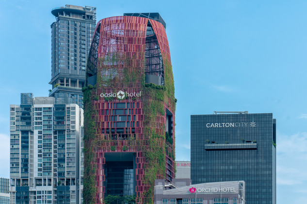 Hotel skylines in Singapore