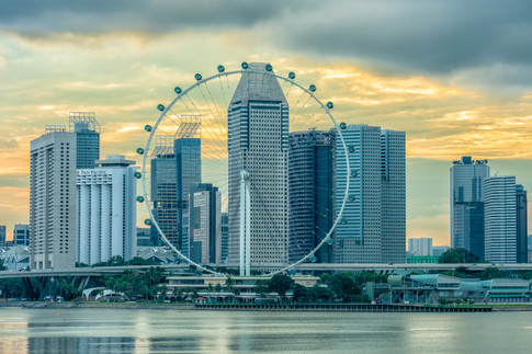 Singapore Flyer and Suntec City