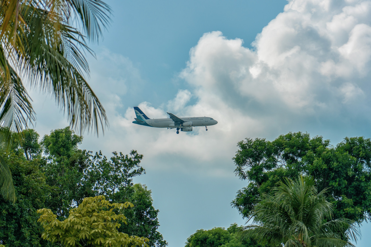 Singapore - June 3, 2018- Silk Air on Fi