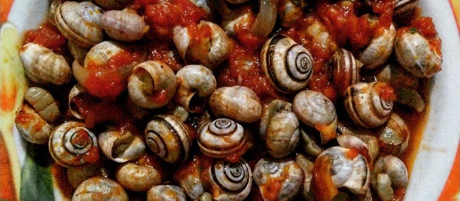 Babbaluci alla picchipacchi Snails with Tomato sauce
