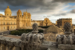 baroque landscape with Noto Cathedral.jp