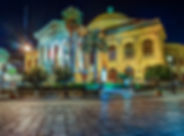 The evening view of Teatro Massimo - Ope