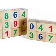 Wooden alphabet cubes. Quality toys