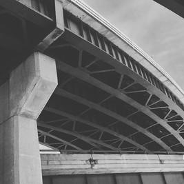 Under the overpass. Albany NY