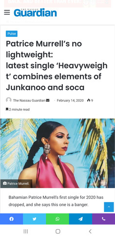 The Nassau Guardian: Patrice Murrell is no lightweight