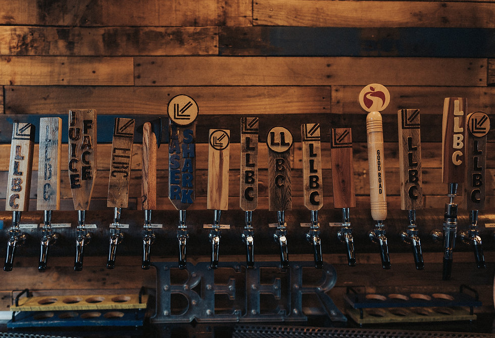 Lower Left Brewery Tap Handles