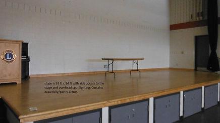 Large Hall Stage Area