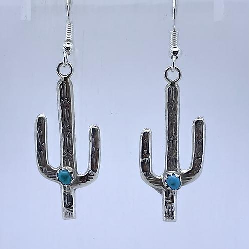 Sterling Cactus Earrings