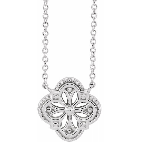 "Vintage-Inspired Clover 18"" Necklace #87107"