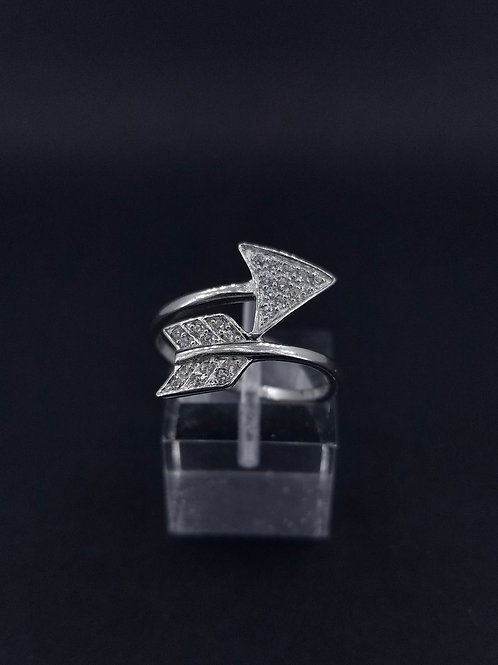 Sterling Silver and CZ Arrow Wraparound Ring