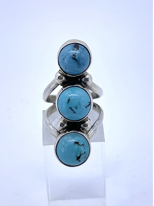 Three stome Turquoise Ring