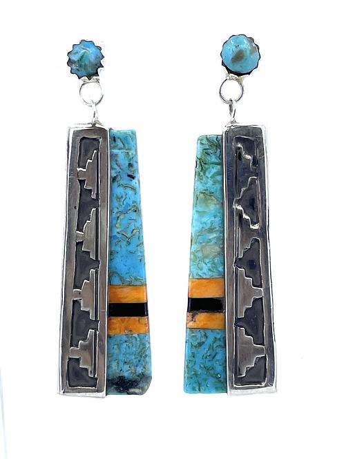 Turquoise inlay earrings