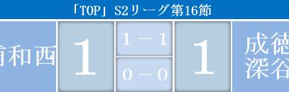 「TOP」第16節vs 成徳深谷高校戦試合結果