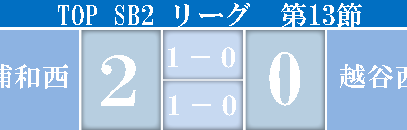 TOP_SB2リーグVS越谷西高校試合結果