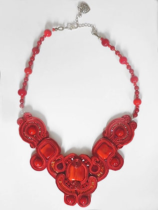 Necklace Crazy Red