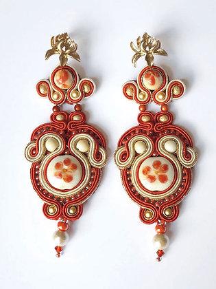 Earrings Hasu (Lotus flower)