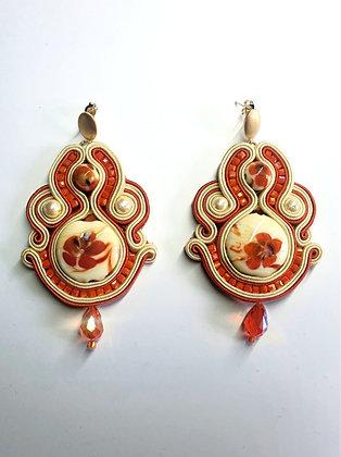 Boucles d'oreilles Kigiku (Chrysanthème jaune)