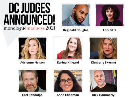 Monologue Madness Announces DC & Atlanta Judges
